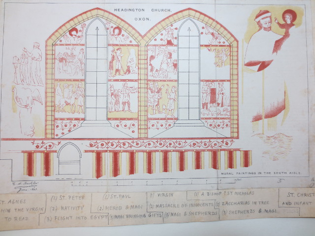 www.headingtonheritage.org.uk Medieval Murals St Andrews C.A. Buckler - The Whole Scheme - Copyright: The Bodleian Libraries, The University of Oxford. Shelfmark: M.S. Top. Oxon a.21 f15r