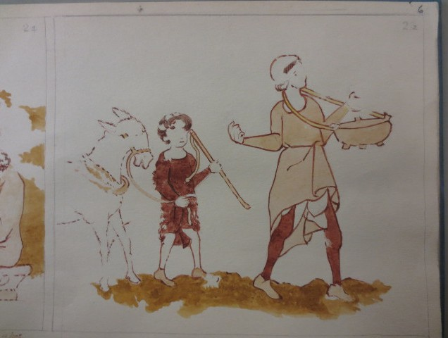www.headingtonheritage.org.uk Medieval Murals St Andrews The Sower Miracle Of The Cornfield - Herbert Hurst M.S. Top. Oxon c.197