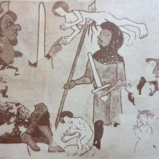 www.headingtonheritage.org.uk Medieval Murals St Andrews The Slaughter of the Innocents- Photograph - - Copyright: The Bodleian Libraries, The University of Oxford. Shelfmark: Gough Adds. Oxon a.71, f.46r