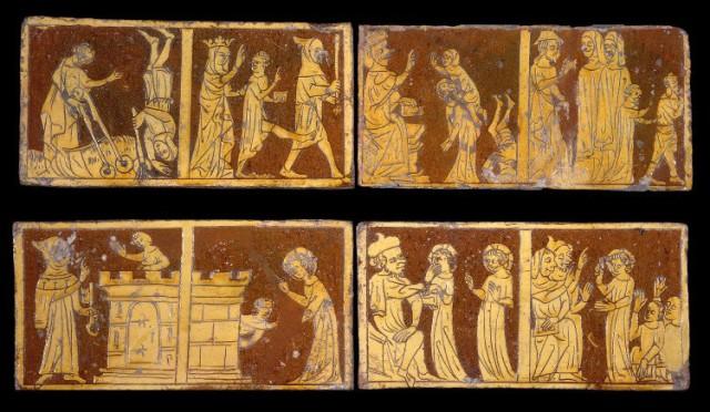 www.headingtonheritage.org.uk Medieval Murals St Andrews - Tring Tiles compared