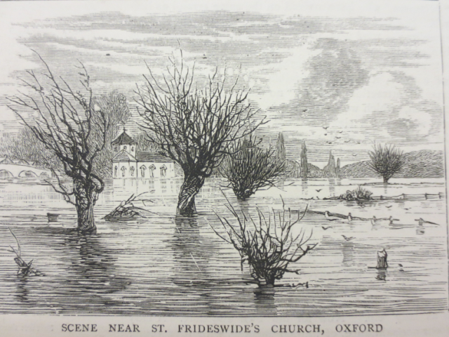 St Frideswide's Church - 1875 Copyright: The Bodleian Libraries, The University of Oxford. Shelfmark: M.S. Top. Oxon G.A. 70 p27 55