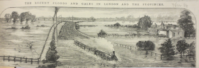 GWR Near Oxford 1875 Copyright: The Bodleian Libraries, The University of Oxford. Shelfmark: G.A.Oxon a.70 Rivers and Waterways p27